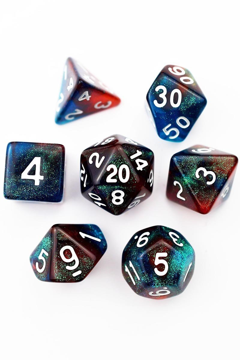 Orion - Acrylic Dice Set - GAMETEEUK