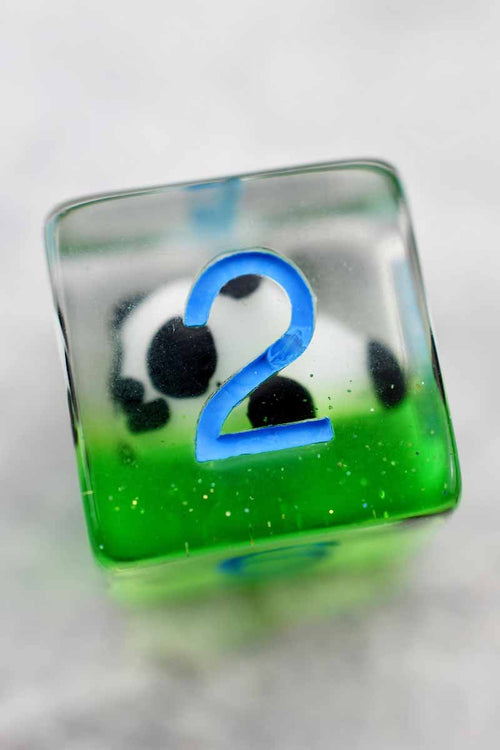 Panda-monium - Little Pandas Acrylic Dice Set - GAMETEEUK