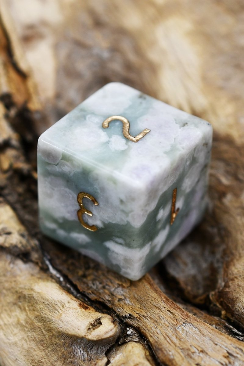 Peace Jade Gemstone Dice Set - GAMETEEUK