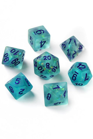 Indian Agate Gemstone Dice Set