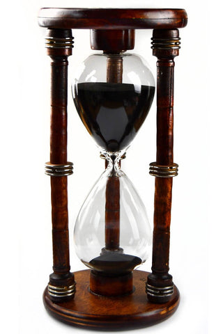 Expeditionis - Antique Wooden Bobbin Five Minute Sand Timer