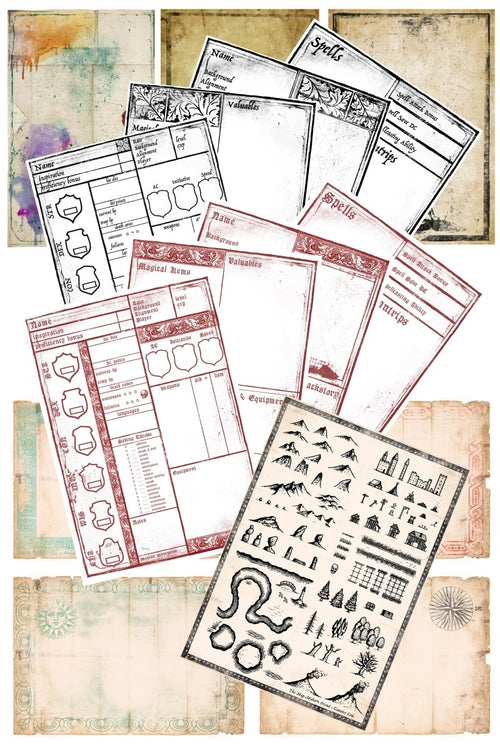 Player's Pack - Printables Collection - GAMETEEUK