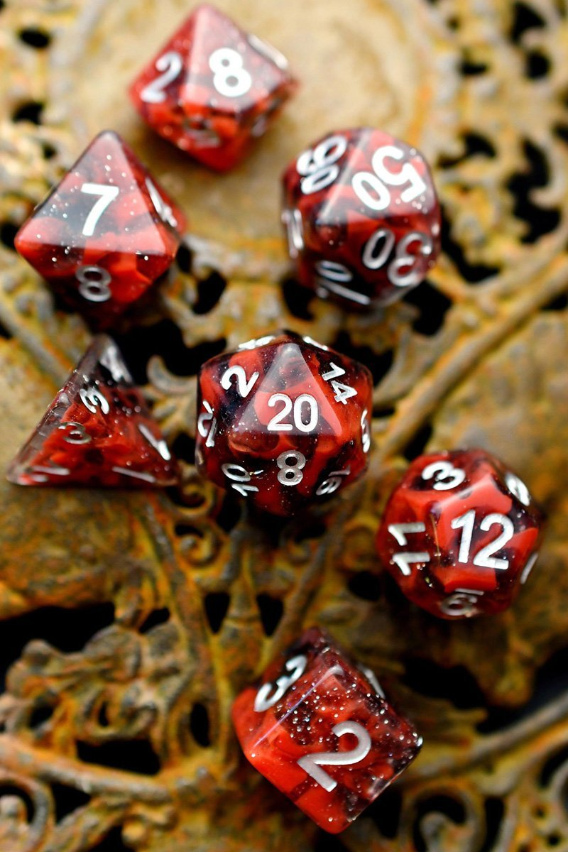 Prelude to Agony - Acrylic Dice Set - GAMETEEUK