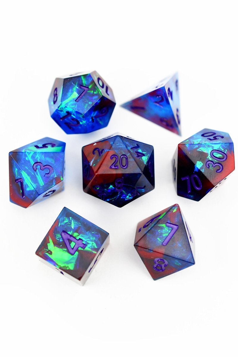 Queen of All Dragons - Sharp-Edged Resin Dice Set - GAMETEEUK