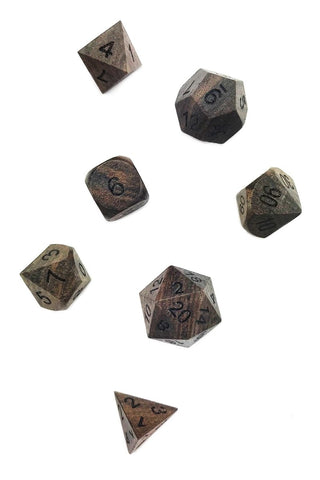 Red Tiger's Eye Gemstone Dice Set