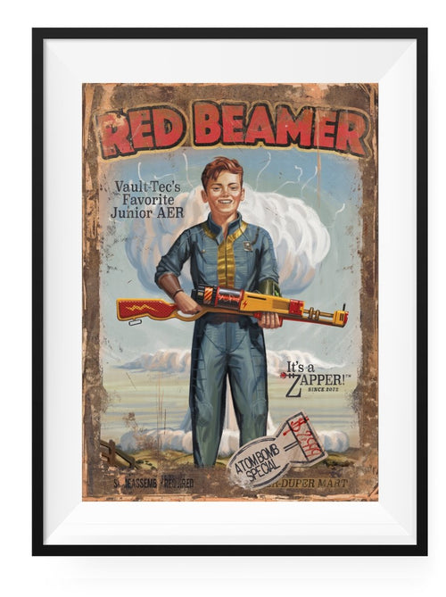 Red Beamer - Art Print - GAMETEEUK