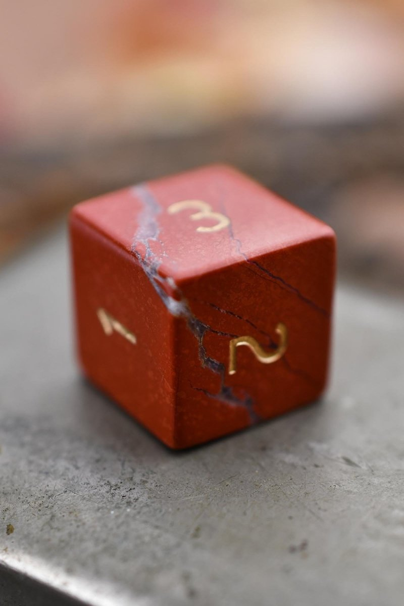 Red Jasper Gemstone Dice Set - GAMETEEUK