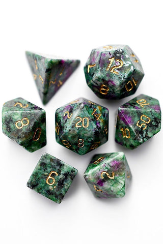 Chromatic Luminous Rainbow Metal Dice Set