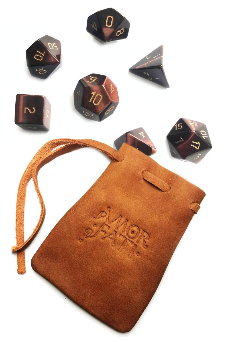 Red Tiger's Eye Gemstone Dice Set - GAMETEEUK