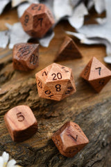 Rosewood Wooden Dice Set - GAMETEEUK
