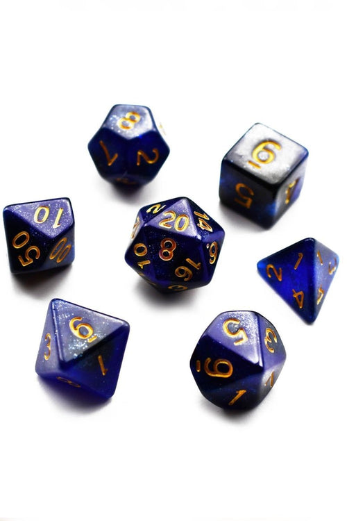 Royal Line - Blood Drop Acrylic Dice Set - GAMETEEUK