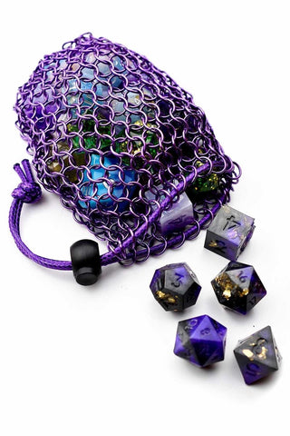 Golden Chainmail Dice Bag