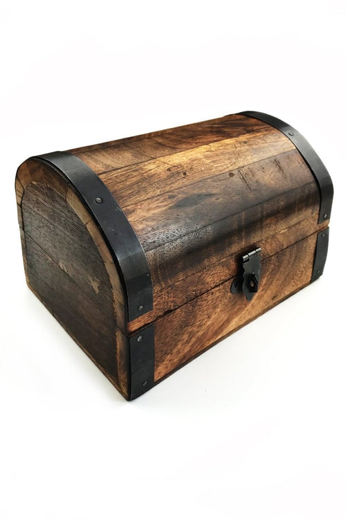 Rustic Treasure Chest - Handmade Dice and Accessory Box - GAMETEEUK