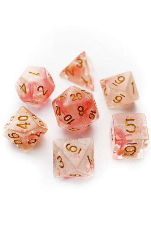 Sakura - Smoke-Silk Acrylic Dice Set - GAMETEEUK