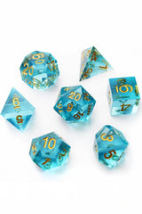 Sky Shard - Sharp-Edged Resin Dice Set - GAMETEEUK