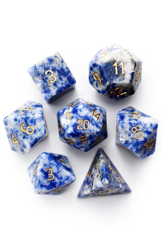 Clear Quartz Gemstone Dice Set