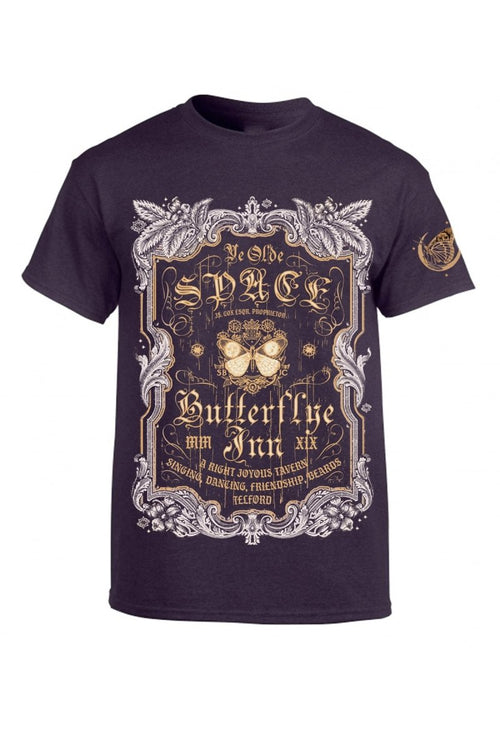 Space Butterflye Inn - Blackberry - T-Shirt - GAMETEEUK