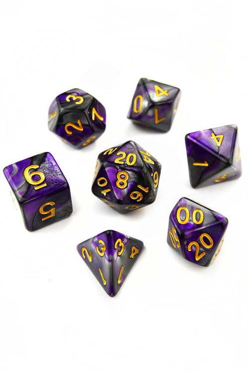 Spellsword - Smoke-Silk Acrylic Dice Set - GAMETEEUK