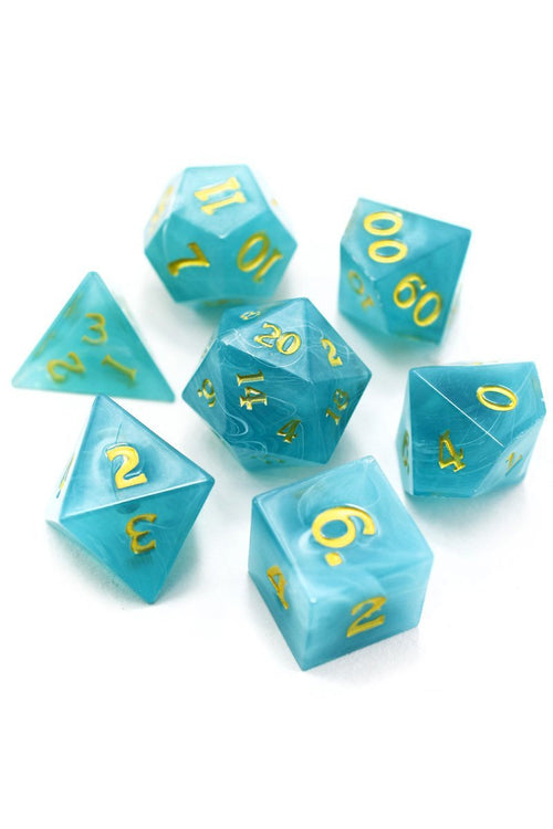Spirits of the Deep - Sharp-Edged Acrylic Dice Set - GAMETEEUK