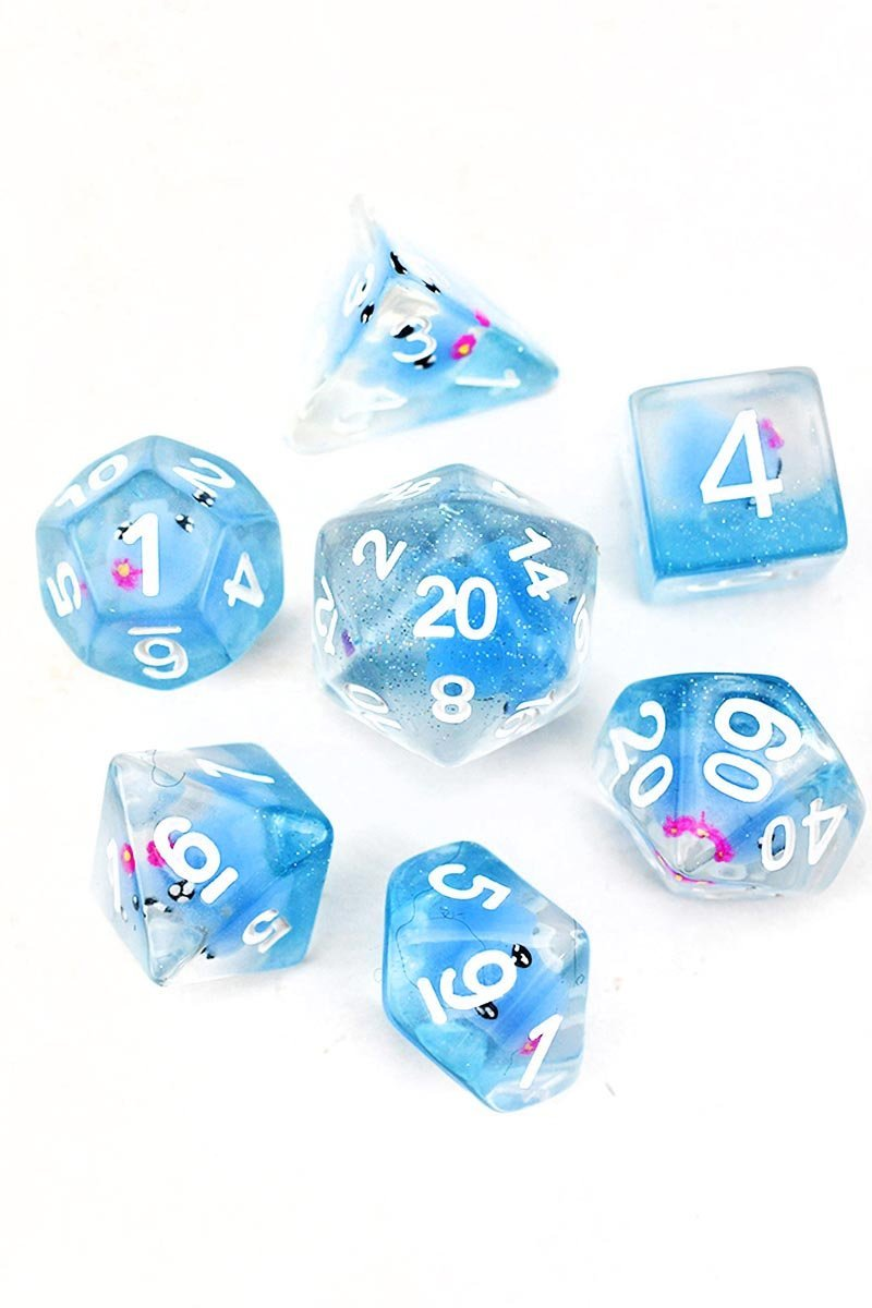 Squidaddle - Cutesy Squid Dice Set - GAMETEEUK