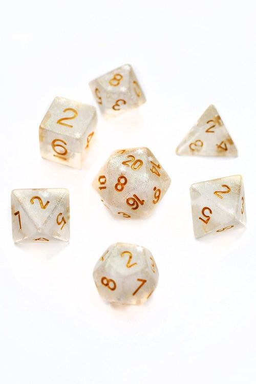 Star Shine - Acrylic Dice Set - GAMETEEUK