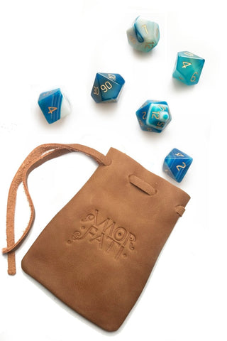 Sodalite Gemstone Dice Set