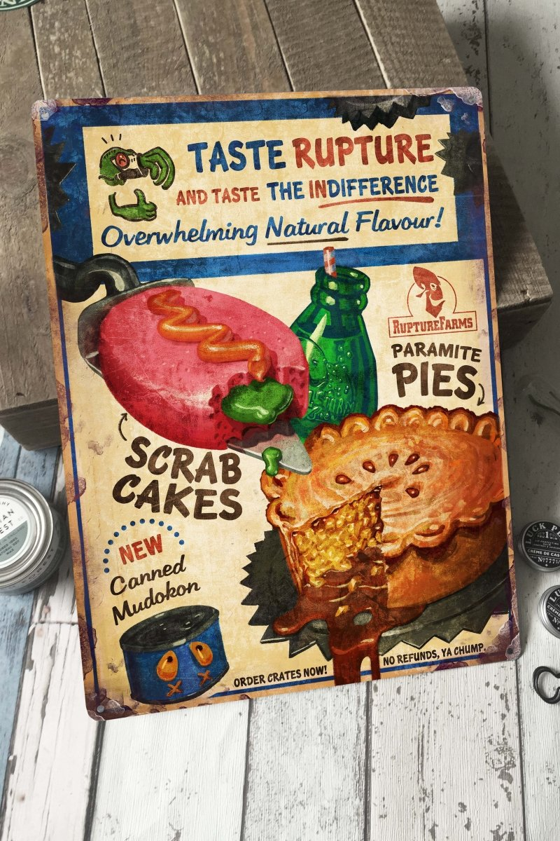 Taste Rupture - Large Tin Sign - GAMETEEUK