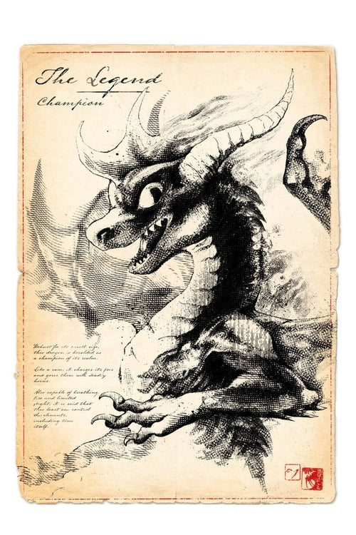 The Legend - Dragon Art Print - GAMETEEUK