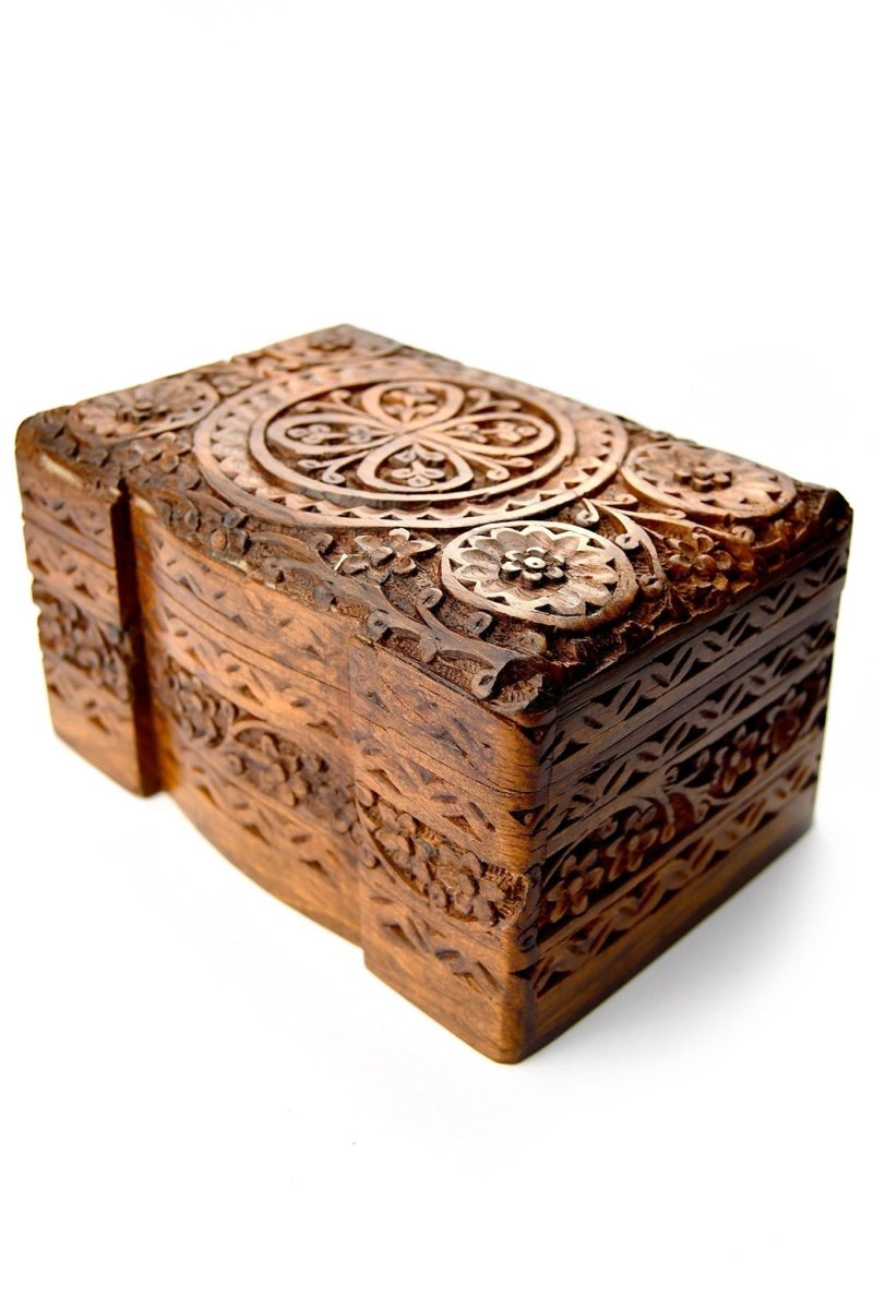 The Treasury - Handmade Dice and Accessory Box with Tray - GAMETEEUK