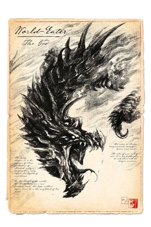 The World-Eater - Dragon Art Print - GAMETEEUK