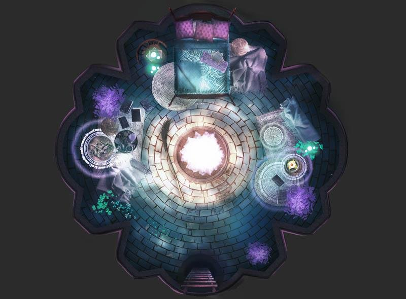 The Wych Nest Three-Level Mage Tower - Digital Map - GAMETEEUK