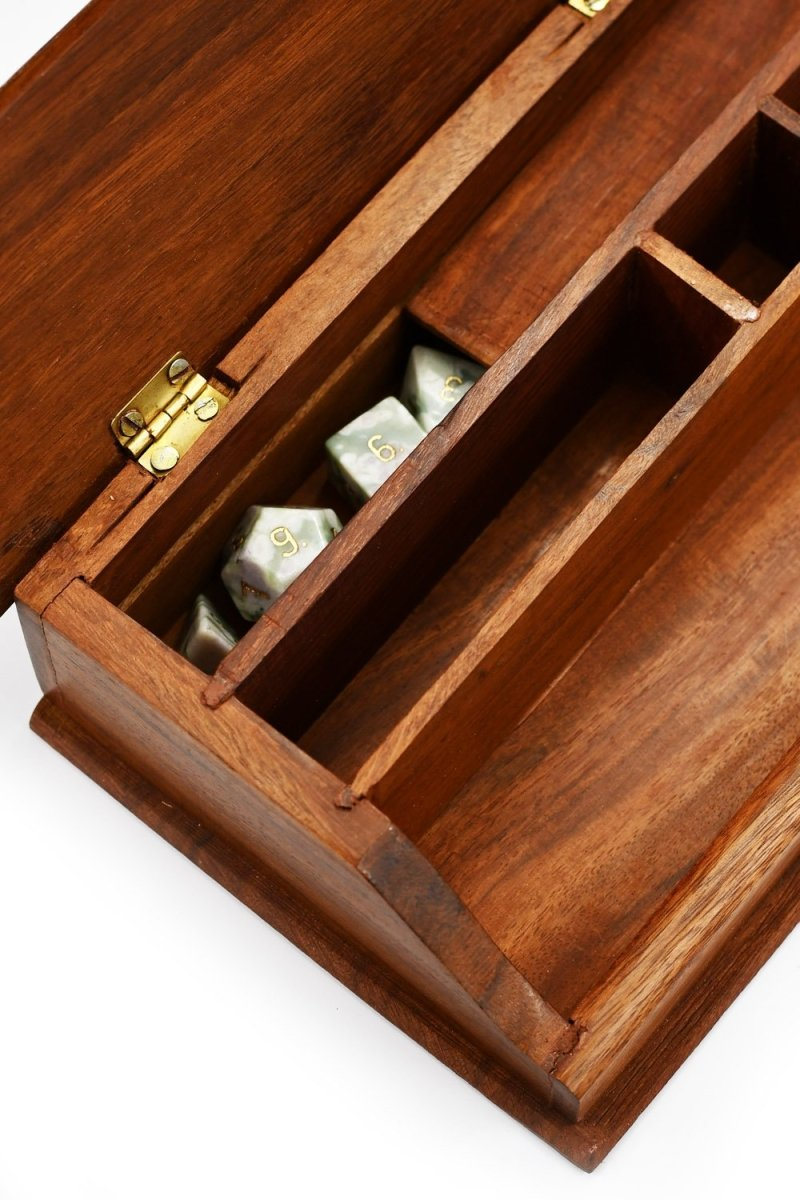 Traditional Secretary Desktop Organiser - Handmade Dice and Accessory Box - GAMETEEUK