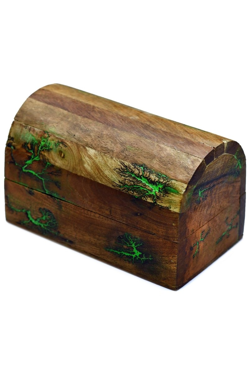 Treasure Chest Living Magic - Handmade Dice and Accessory Box - GAMETEEUK