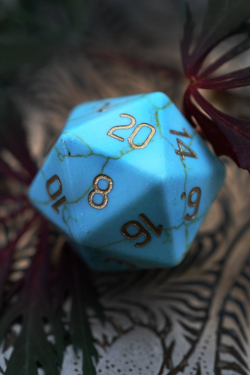 Turquoise Gemstone Dice Set - GAMETEEUK