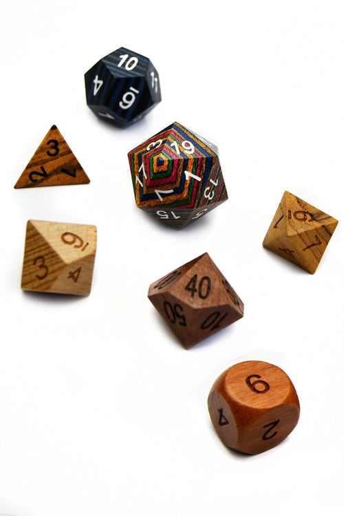Variety Wooden Dice Set - GAMETEEUK