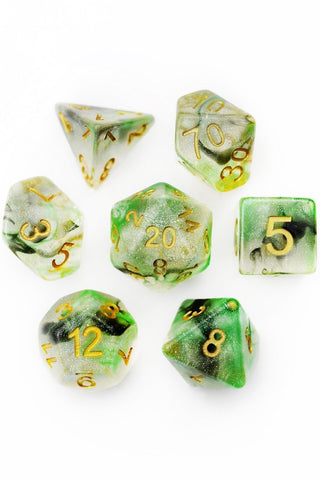 Dragon Scale Star Shine - Acrylic Dice Set