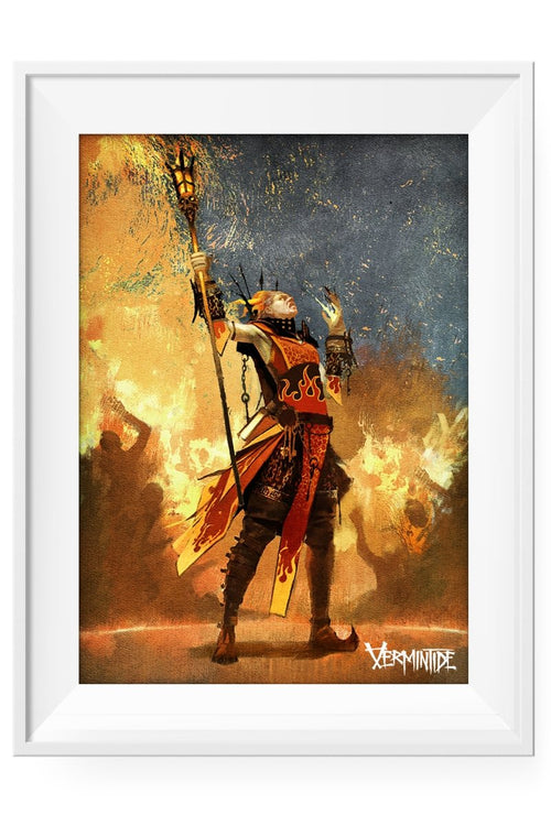 Vermintide - Bright Wizard Lithograph - GAMETEEUK