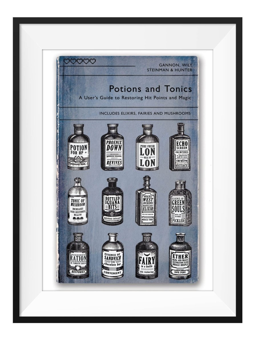 Videogame Potions - Art Print - GAMETEEUK