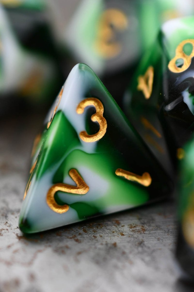 Vortex - Harlequin Acrylic Dice Set - GAMETEEUK