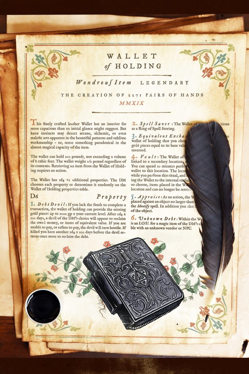 Wallet of Holding - Printable Item - GAMETEEUK