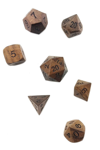 Bloodstone Gemstone Dice Set