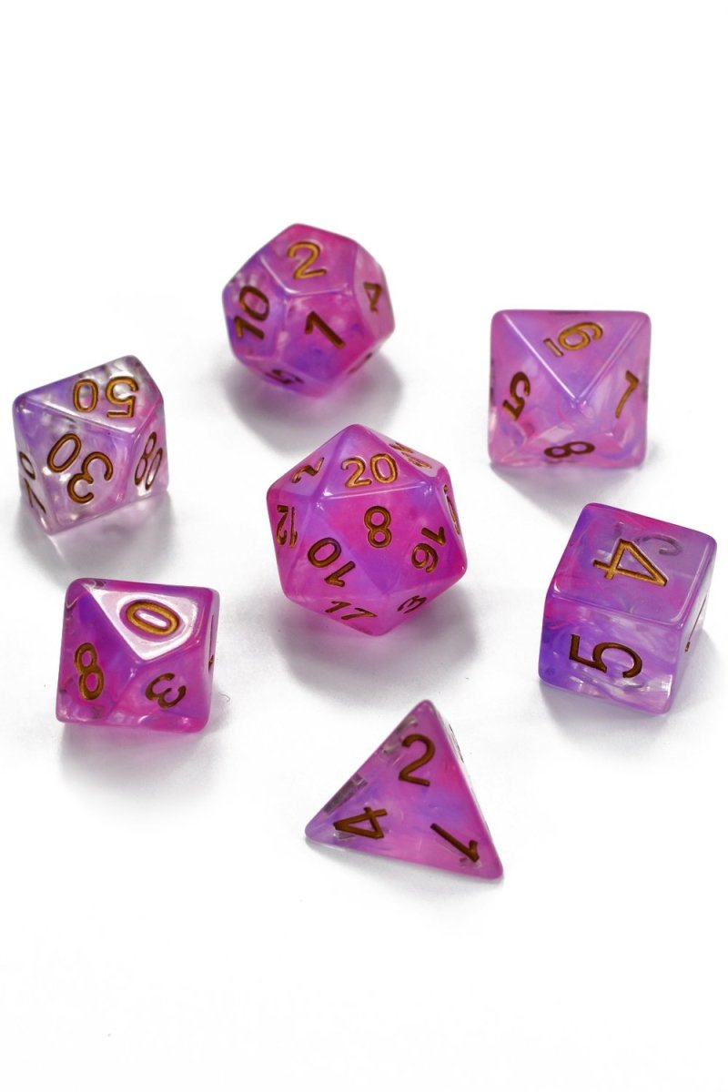 Witchery - Smoke-Silk Acrylic Dice Set - GAMETEEUK