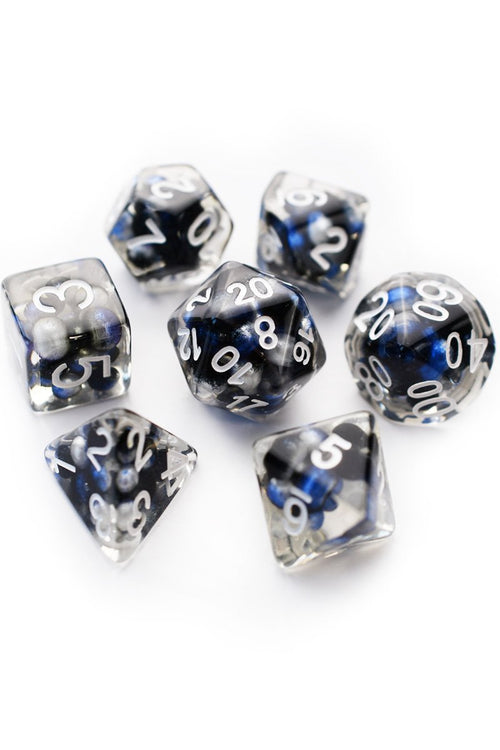 World is Your Oyster - Imitation Pearl Acrylic Dice Set - GAMETEEUK