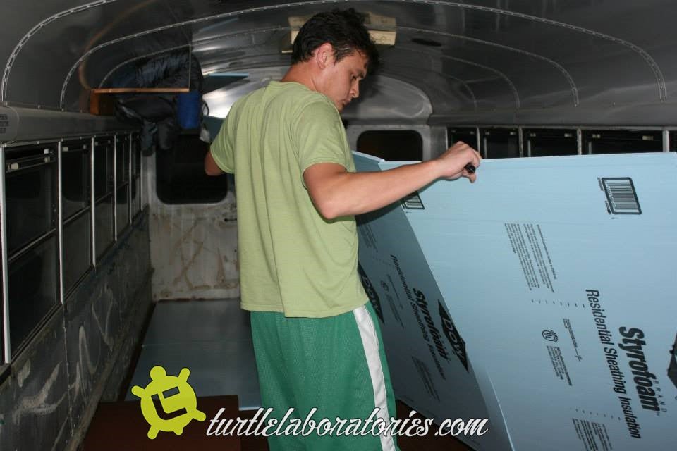 School Bus RV Conversion Chapter 5 - Insulation and Foundation