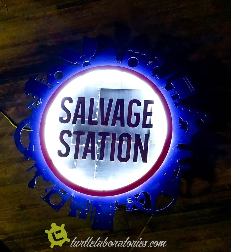 Salvage Station Sign