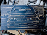 BMW E30 3D Wood Carving