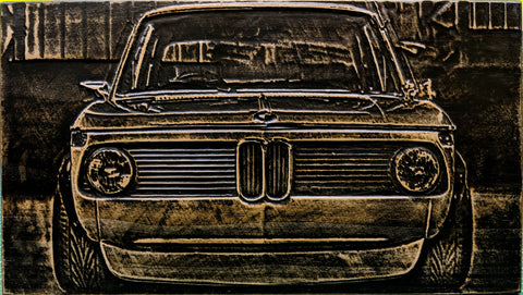 BMW 2002 3D Wood Carving