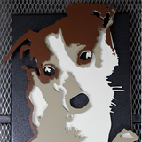Custom 3D Metal Pet Family Portrait Memorial Abstract Art Steel Photo Conversion