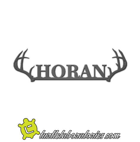 Custom Antler Name Sign