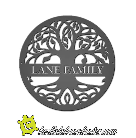 Custom Celtic Tree of Life Name Sign